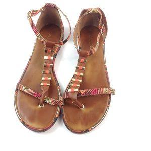 Aldo multi-color sandals